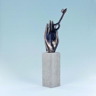 Bronzeskulptur Handzeichen Türen öffnen Hände Schmelter Raimund Bronze Figur