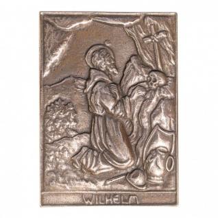 Namenstag Wilhelm 8 x 6 cm Bronzeplakette Bronzerelief Wandbild Schutzpatron