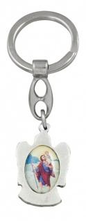 Schlüsselanhänger Schutzengel Christopherus bunt 9 cm Engel Anhänger - Vorschau 2
