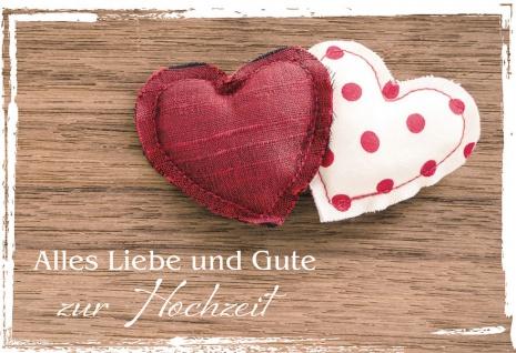 Hochzeitskarte Alles Liebe und Gute zur Hochzeit (6 St) Kuvert Grußkarte