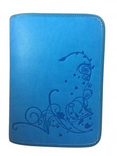 Gotteslobhülle Blumen-Ornament Kunstleder, hellblau