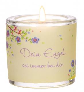 Glaswindlicht Dein Engel Teelicht Kerzenhalter Geschenkbox Glas für Windlicht