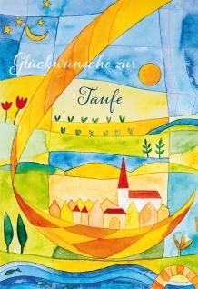 Glückwunschkarte Taufe Kirche 6 St Kuvert Gemeinde Fest Freude Segen Familie