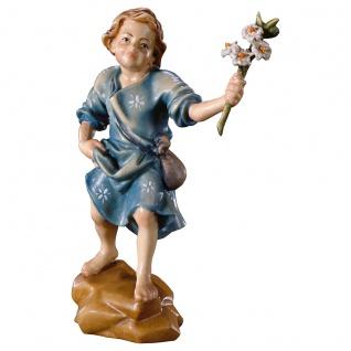 Lilienjunge Holzfigur geschnitzt Südtirol profane Figur