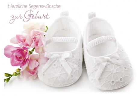Geburtskarte Herzliche Segenswünsche zur Geburt (6 Stck) Psalm Glückwunschkarte