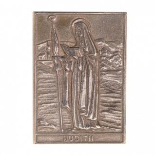 Namenstag Judith 8 x 6 cm Bronzeplakette Bronzerelief Wandbild Schutzpatron - Vorschau