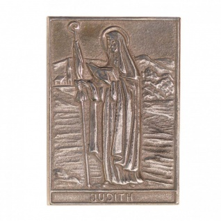 Namenstag Judith 8 x 6 cm Bronzeplakette