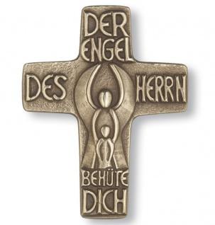 Wandkreuz Taufe Taufkreuz Schutzengel Bronze Text Spruch 13 cm Peters Jürgen NEU