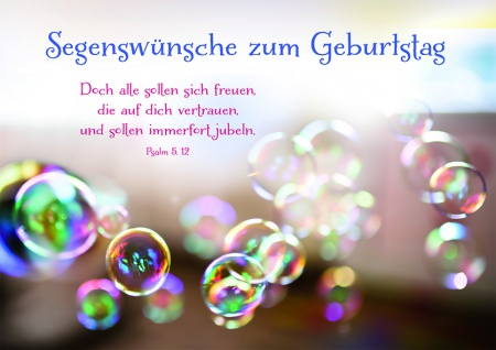 Geburtstagskarte Segenswünsche zum Geburtstag (6 Stck) Glückwunschkarte Kuvert