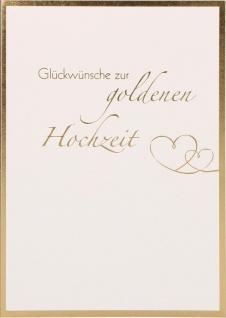 Glückwunschkarte Hochzeit 6 St Kuvert Mark Twain Naturpapier Folienprägung Glück