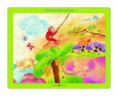 Puzzle Gott hat die Welt gemacht, 48 Teile Christliche Bücher
