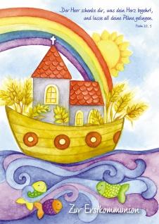 Kommunionkarte Boot Zur Erstkommunion (6 Stck) Glückwunschkarte Kommunion