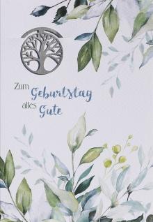 Glückwunschkarte Zum Geburtstag alles Gute (6 Stück) Grußkarte mit Kuvert