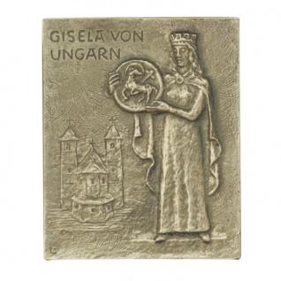 Namenstag Gisela Bronzeplakette 13 x 10 cm Bronzerelief Wandbild Schutzpatron