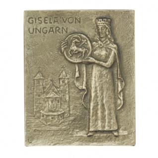 Namenstag Gisela Bronzeplakette 13 x 10 cm Namenspatron