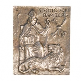 Namenstag Otto 13 x 10 cm Geschenk Bronzerelief Wandbild Schutzpatron - Vorschau