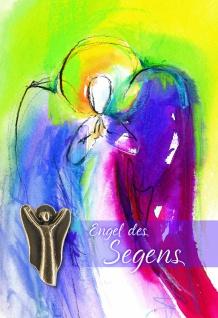 Doppelkarte mit Bronze-Engel Engel des Segens (5 St) Grußkarte Sinnspruch