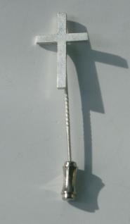 Priesterkreuz Sterlingsilber mit Anstecknadel 5, 5 cm