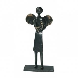 Engel Bronzefigur Babysitter Engelchen 12 cm Bronzeengel - Vorschau