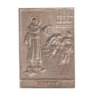 Namenstag Albert 8 x 6 cm Bronzeplakette Bronzerelief Wandbild Schutzpatron