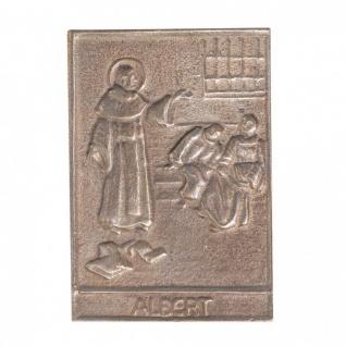 Namenstag Albert 8 x 6 cm Bronzeplakette
