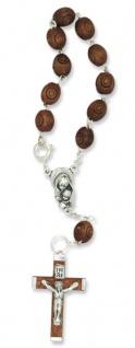 Rosenkranz 10er Armband Holz-Perlen 15 cm Auto-Rosenkranz Rückspiegel
