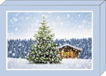 Weihnachtskarten Geschenkbox 4 Motive mit Kuvert Grußkarten