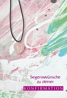 Glückwunschkarte Konfirmation Herz-Edelstein-Anhänger 5 St Kuvert