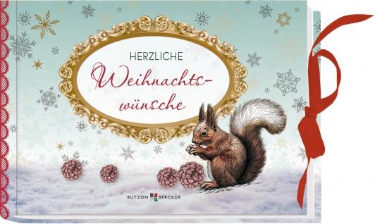 Geschenkbuch Herzliche Weihnachtswünsche Umschlag für Gutscheine