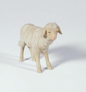 Tiroler Krippe Schaf schauend bunt bemalt 12 cm Krippen Figur Weihnachten - Vorschau