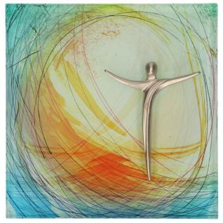 Wandtafel Glasrelief Corpus Jesus Metall 13 cm Kerstin Stark Geschenkverpackung