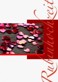 Hochzeitskarte Rubinhochzeit (6 Stck) Grußkarte Glückwunschkarte Kuvert