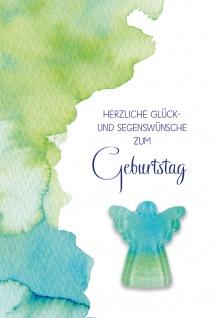 Glückwunschkarte Geburtstag Glas-Magnet Engel 5 St Kuvert Glück Segen Gott