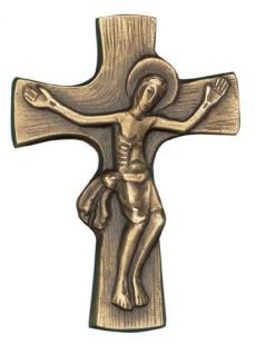 Wandkreuz Bronzekreuz Corpus Kreuz 7, 5 x 11 Körper Korpus Kruzifix Ch. Fischbach