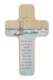 Kreuz für Kinder Guter Hirte 18 cm Kruzifix Holz-Kreuz Geschenkbox Wandkreuz