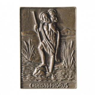 Namenstag Christophorus 8 x 6 cm Bronzeplakette