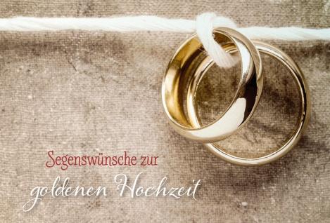 Hochzeitskarte Segenswünsche zur goldenen Hochzeit (6 St) Kuvert Grußkarte