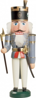 Nussknacker Offiziant 29 cm Holz-Figur Handarbeit aus Seiffen im Erzgebirge