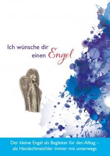 Plakette Engel Handschmeichler 4, 5 cm Neusilber Kerstin Stark