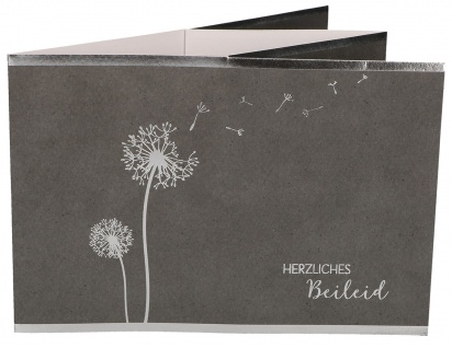Trauerkarte Teelichtkarte Albert Schweitzer Herzliches Beileid (5 Stück)