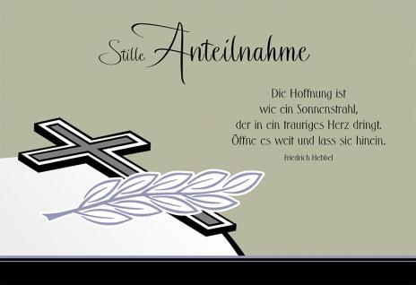 Trauerkarte Stille Anteilnahme Hebbel (6 Stck) Beileidskarte Kondolenzkarte