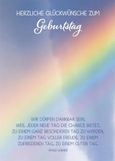 Postkarte Herzliche Glückwünsche zum Geburtstag (10 St) Regenbogen Franz Hübner
