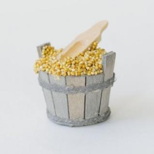 Kübel mit Scheffel handgefertigt Holz 5, 5 cm Zubehör für Weihnachtskrippe