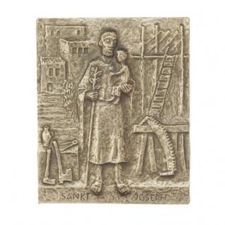 Namenstag Josef 13 x 10 cm Namenspatron Bronzerelief Wandbild Schutzpatron