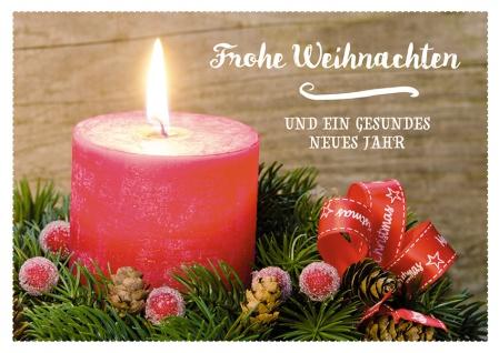 Postkarte Frohe Weihnachten (10 Stck) Kerzenschein Adressfeld Weihnachtskarte