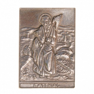 Namenstag Matthias 8 x 6 cm Bronzeplakette