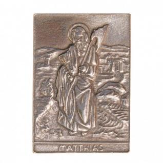 Namenstag Matthias 8 x 6 cm Geschenk Bronzerelief Wandbild Schutzpatron