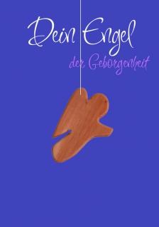 Karte Engel Holz-Anhänger Dein Engel der Geborgenheit (5 St) Grußkarte Kuvert