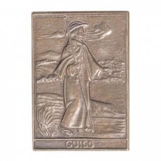 Namenstag Guido 8 x 6 cm Bronzeplakette Bronzerelief Wandbild Schutzpatron