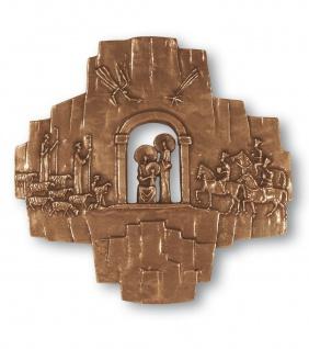 Wandkreuz Krippenkreuz 32 cm Bronze Kreuz Schilcher Hermann